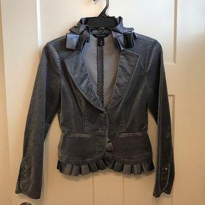 Whit House Black Market Grey Suede Blazer